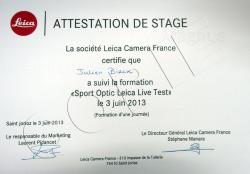 Attestation Formation LEICA